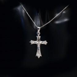 Stříbrný přívěsek křížek 3