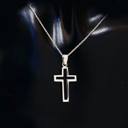 Stříbrný přívěsek křížek 4