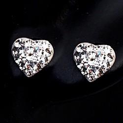 Stříbrné naušnice s kameny Swarovski