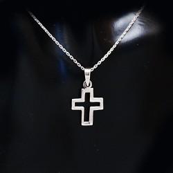Stříbrný přívěsek křížek 7