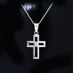 Stříbrný přívěsek křížek 8