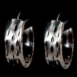 Stříbrné naušnice bez kamene