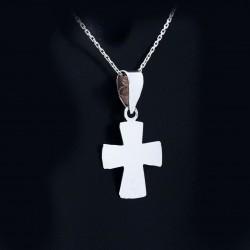 Stříbrný přívěsek křížek 10
