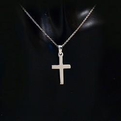 Stříbrný přívěsek křížek 11
