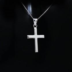 Stříbrný přívěsek křížek 13
