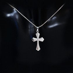 Stříbrný přívěsek křížek 14