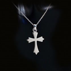 Stříbrný přívěsek křížek 15