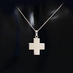 Stříbrný přívěsek křížek 21