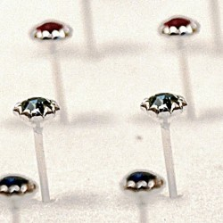 naušnice do nosu s krystaly