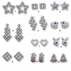naušnice s krystaly
