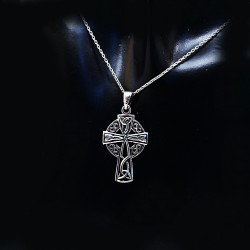 Stříbrný přívěsek křížek 24