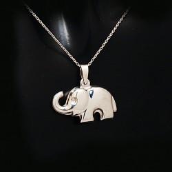 Stříbrný přívěsek slon 2