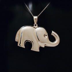 Stříbrný přívěsek slon 3