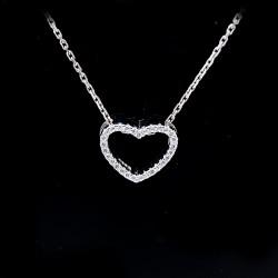 Stříbrný přívěsek srdce s kameny 3