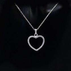 Stříbrný přívěsek srdce s kameny 5