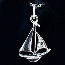 Stříbrný přívěsek plachetnice