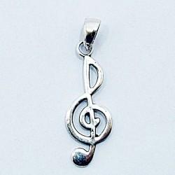 Stříbrný přívěsek houslový klíč 3