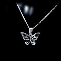 Stříbrný přívěsek motýlek